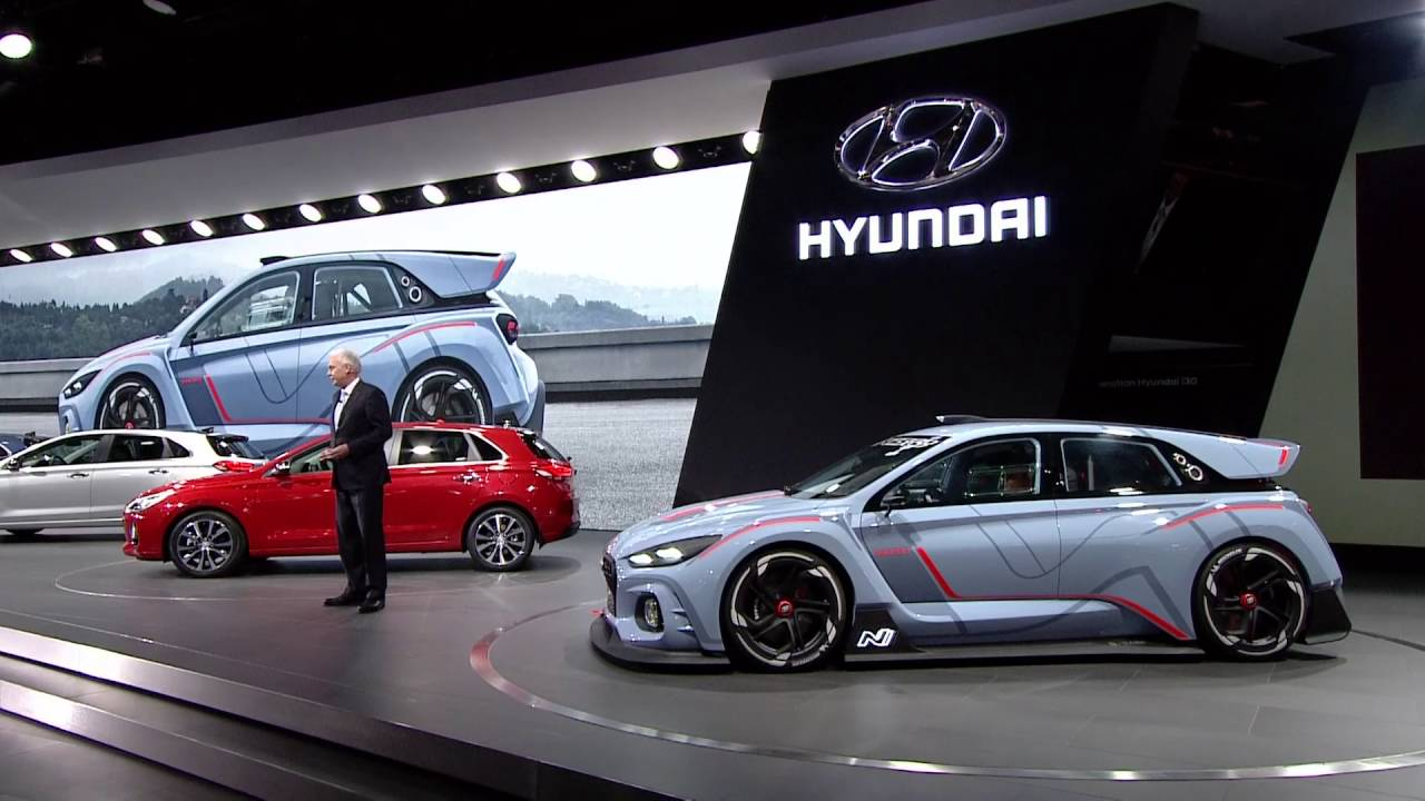Hyundai RN30 Concept Car Premiere At The Paris Motor Show
