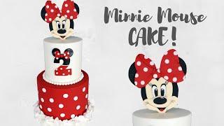 Disney&#39s Minnie Mouse Ruffly Cake Tutorial!