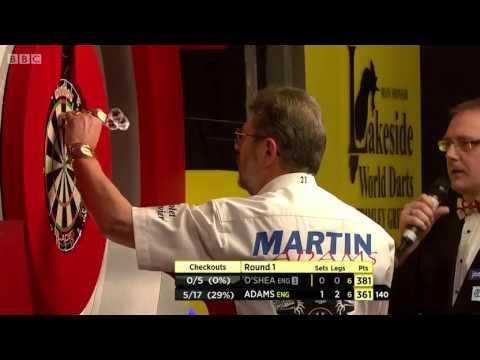 Lakeside BDO World Darts Championships 2014 First Round Martin Adams v Tony O'Shea