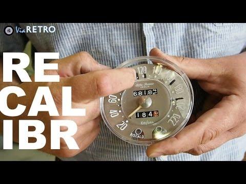 Speedo and rev counter calibration