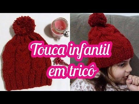 TOUCA COM TRANÇAS EM TRICÔ - Por Clarisse Froner - YouTube 409f95aa721