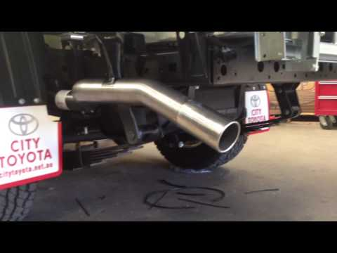 Toyota Land Cruiser Turbo Diesel Exhaust Youtube