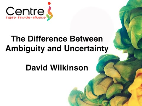 What is the difference between ambiguity and uncertainty?