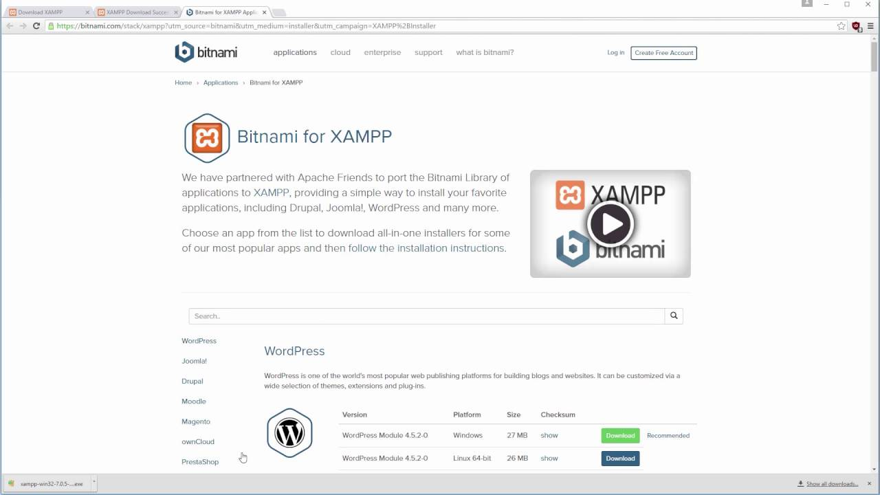 How to install the Apache server, MySQL and PHP 7 on Windows with XAMPP