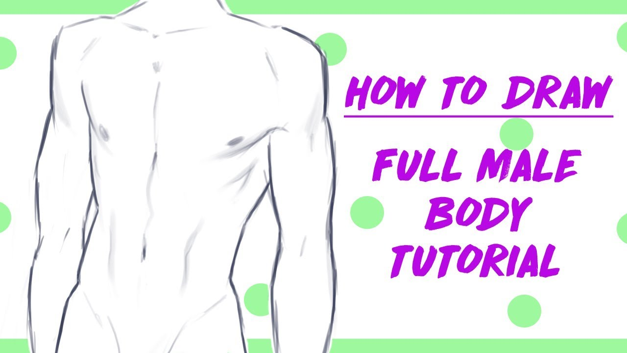 How to draw male manga body tutorial