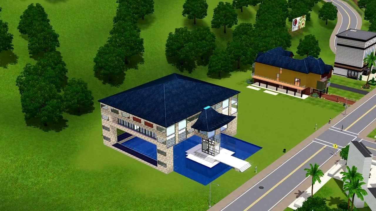sims 3 haus bauen 6 poolhaus youtube. Black Bedroom Furniture Sets. Home Design Ideas