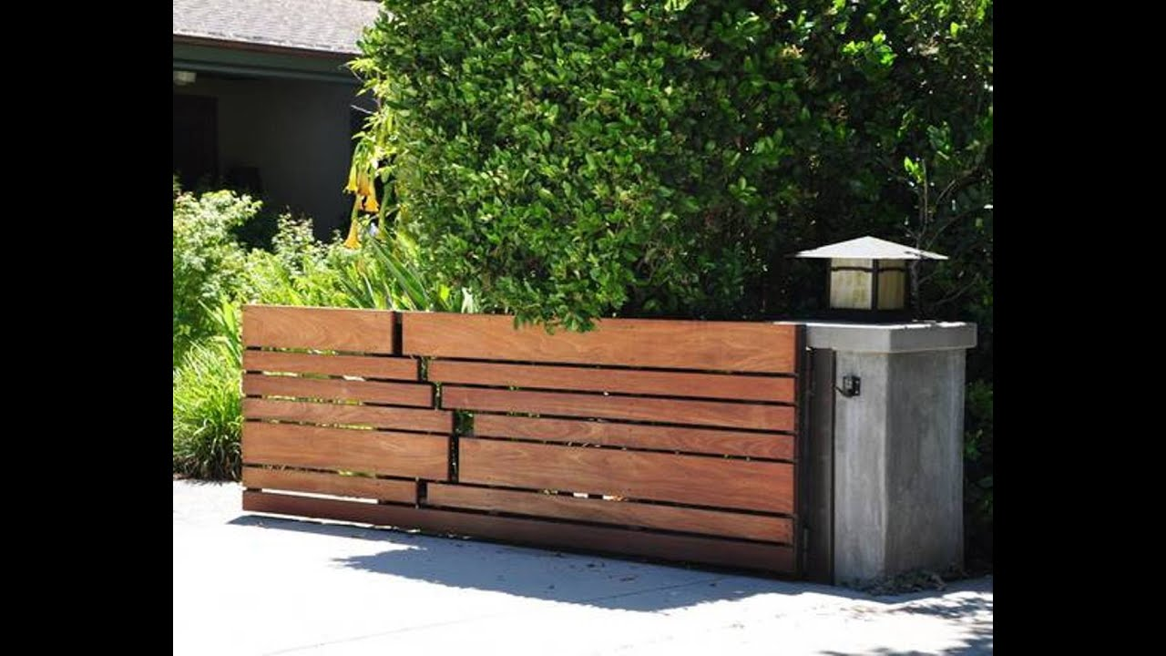Wood fence designs wood fence and gate designs youtube for Modern front gate design