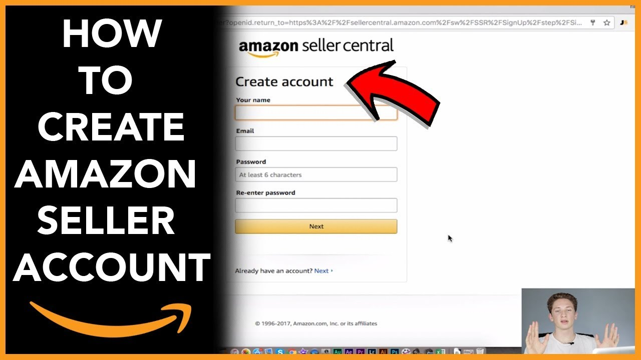 login to amazon seller central