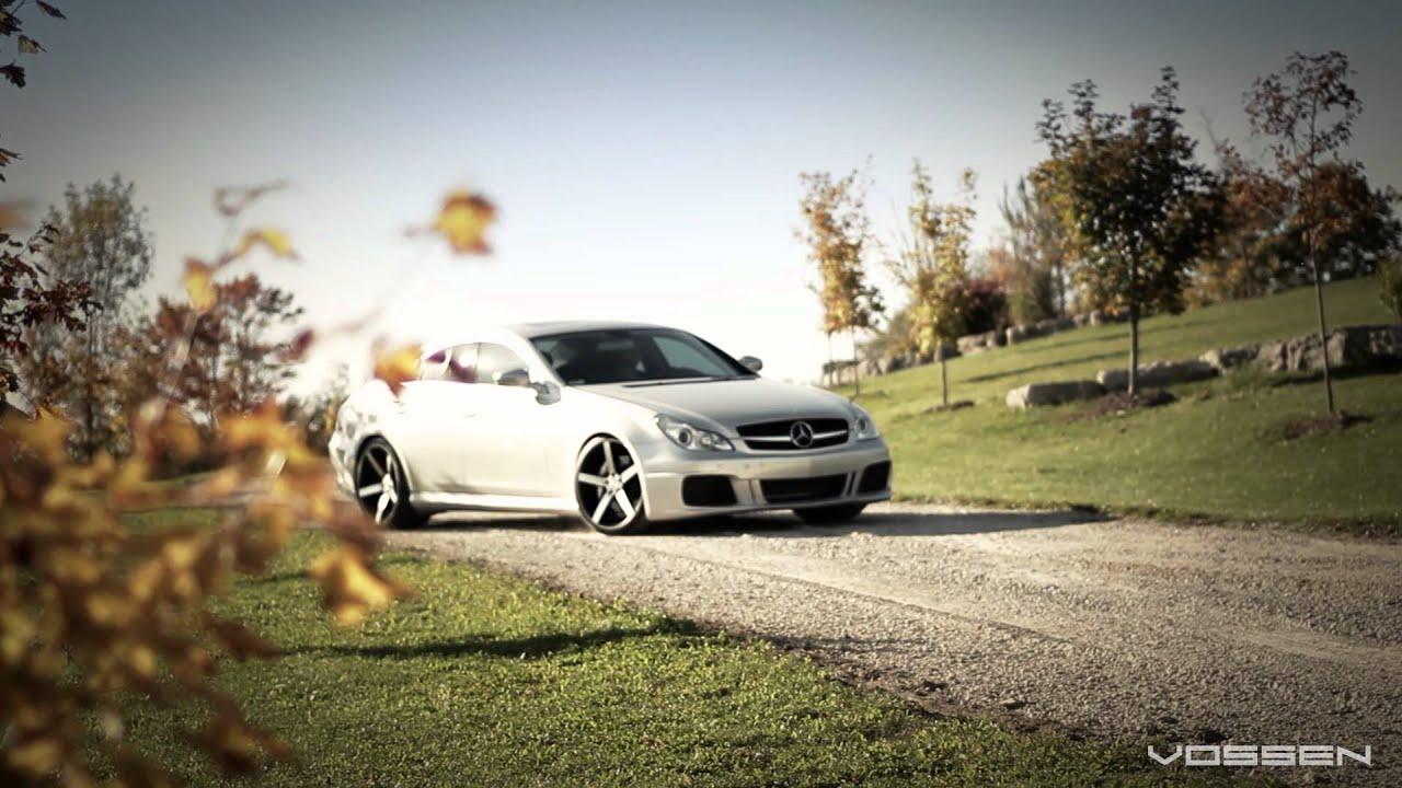 "Mercedes Benz CLS550 on 20"" Vossen VVS-CV3 Concave Wheels ..."