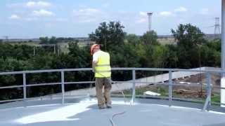 Покраска крыши резервуара, емкости(сайт - http://okraska-profi.com.ua/ Покраска верха, крыши резервуаров (емкостей)