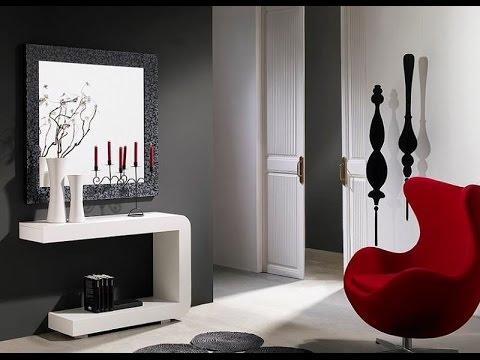 Recibidores modernos r sticos minimalistas de madera - Muebles recibidores pequenos ...