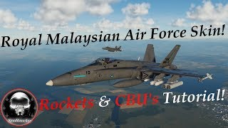 DCS: F/A-18C Hornet Cluster Munitions & Single-Salvo Rockets Tutorial & The Unknown Hornet Operator