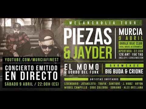 PIEZAS & JAYDER - MELANCHOLIA TOUR EN MURCIA (CONCIERTO COMPLETO)