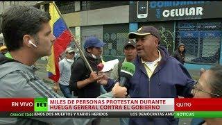 Ecuador: Miles de personas protestan durante huelga general contra el Gobierno