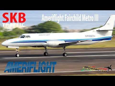 Ameriflight Fairchild Metro III arrival...departing St. Kitts for San Juan Puerto Rico