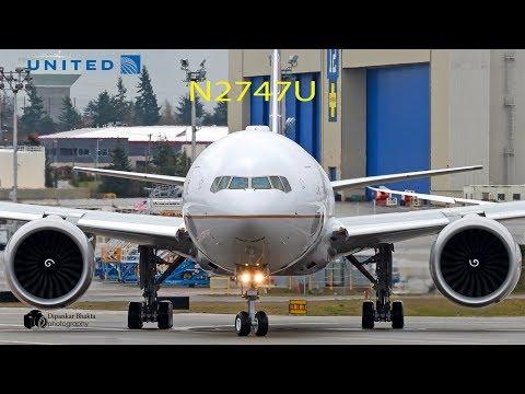 United Airlines B777-300ER (N2747U) Flight Tests Compilation- Missed Approach+landing+FF @ PAE