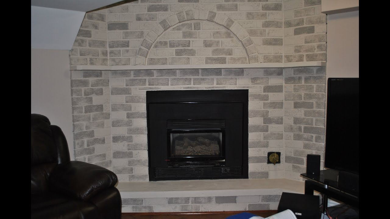How to update a fireplace for cheap. Renovate a fireplace on tight ...