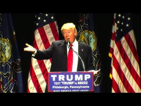 """Donald Trump at Pittsburgh rally: """"How"""