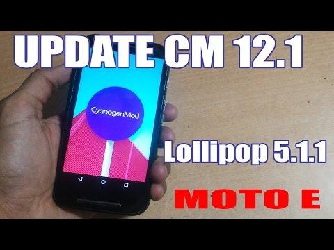 How to Update CyanogenMOD 12.1 in MOTO E (1st Gen) to Latest Version