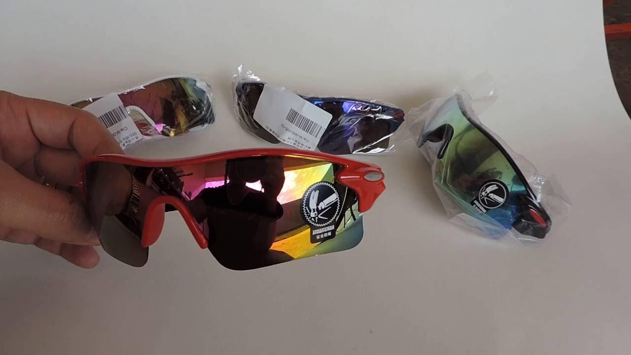 849be5b4b oculos de ciclismo oulaiou esportivo - YouTube