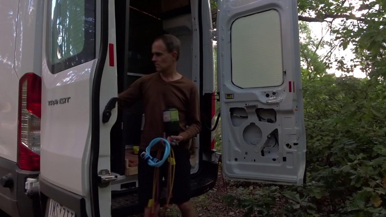 Showering Without A Shower Diy Transit Van Conversion