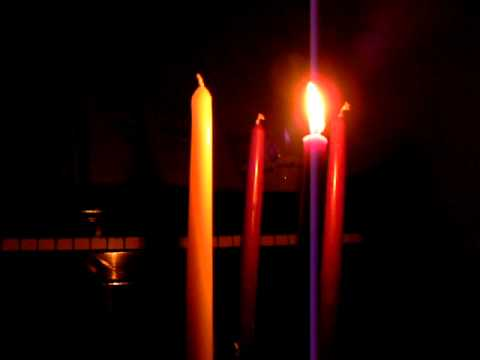 Advent wreath candle lighting Part 1 & Advent wreath candle lighting Part 1 - YouTube