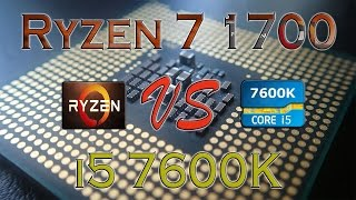 ryzen 7 1700 vs i5 7600k benchmarks gaming tests review and comparison ryzen vs kaby lake