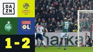 90+5! Moussa Dembele köpft Lyon zum Sieg: St. Etienne - Lyon 1:2 | Ligue1 | DAZN Highlights