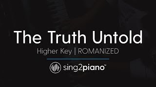 The Truth Untold (Higher Piano Karaoke) BTS & Steve Aoki - ROMANIZED