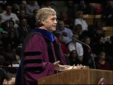 Gary Downey speaks at Virginia Tech's Fall 2008 Commencement