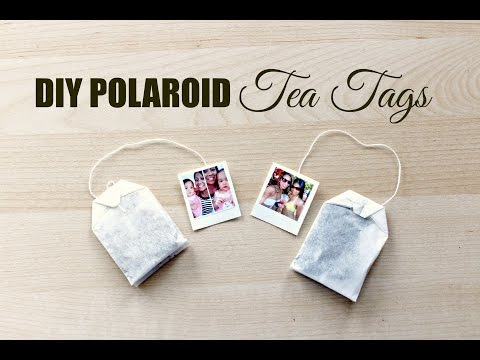 DIY Polaroid TEA TAGS + Engraved wooden box - Cute personalized gift !