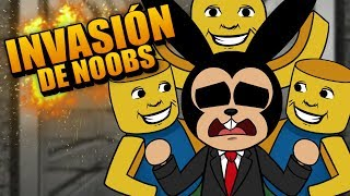 ROBLOX: INVASIÓN DE NOOBS EN EL ASCENSOR | The Elevator Remade