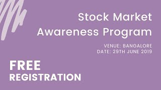 [975.83 KB] Stock Market Awareness Program |Free Registration|Training Session| Investment|NSE|BSE|STT
