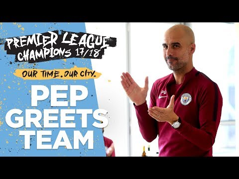 "Pep's Speech To Players & Staff | ""We Are All Champions"""