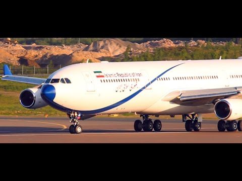 RARE A340 | Mighty Takeoff from Helsinki | Islamic Republic of Iran VIP Airbus A340-300 | EP-AJA