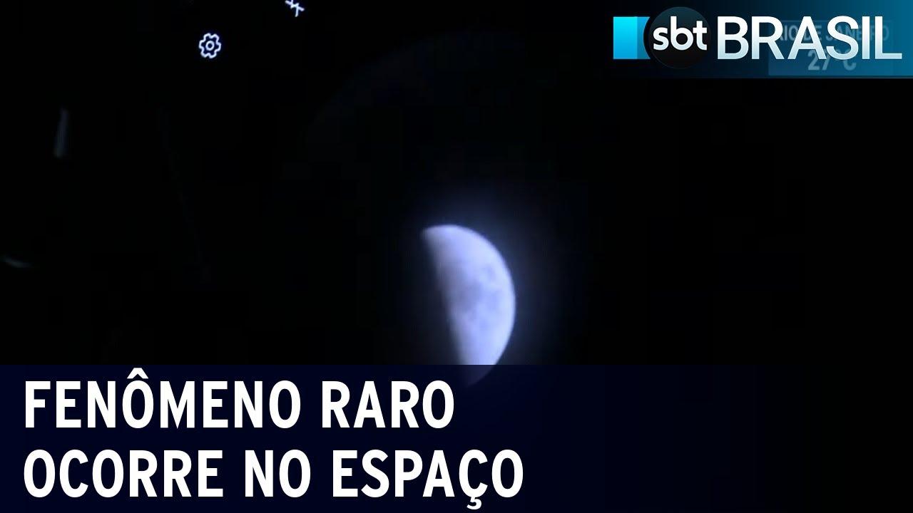 Alinhamento raro entre Júpiter e Saturno é observado a olho nu   SBT Brasil (21/12/20)