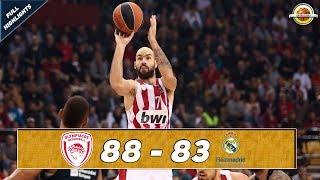 Olympiacos Piraeus - Real Madrid |88-83| ● Full Highlights ● Round 9