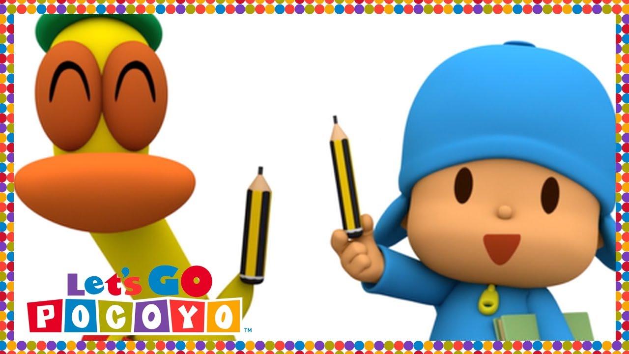 🎒 POCOYO in ENGLISH - Pocoyo Goes to School [ Let's Go Pocoyo ]   VIDEOS  and CARTOONS FOR KIDS
