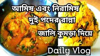 আমিষ এবং নিরামিষ দুই রকম চাল কুমড়ার রেসিপি/Chal Kumra Diye Katol Macher Jhol/Naznin Keya/Daily Vlog