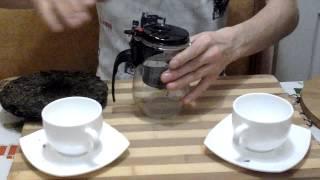 Шен пуэр дегустация,обзор, Китайский чай пуэр,юньнань, Посылка из Китая Алиэкспресс China Puer tea