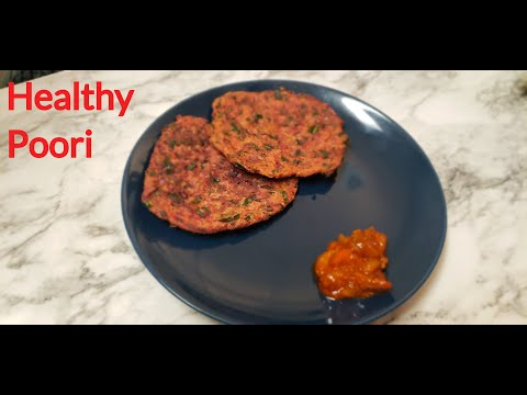 Poori Recipe- Spinach & Beetroot Healthy Poori   Indian Poori recipe