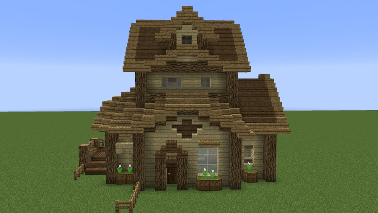 Quick Wooden Minecraft House Youtube