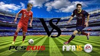 PES 2015 Vs FIFA 15 | Gameplay & Graphics Comparison