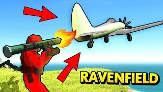 CRAZY PLANE LAUNCHER IN RAVENFIELD (Ravenfield Funny Gameplay)