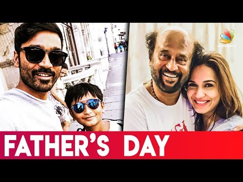 Rajini & Dhanush Fathers Day Celebration I Soundarya Rajinikanth I Latest Tamil Cinema News