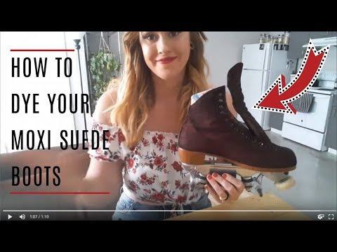 How I Dyed My Moxi Suede Boots