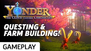 Yonder: The Cloud Catcher Chronicles - Farm Building & Questing Gameplay!