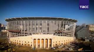 На стадионе ЧМ 2018 в Екатеринбурге начались работы по благоустройству
