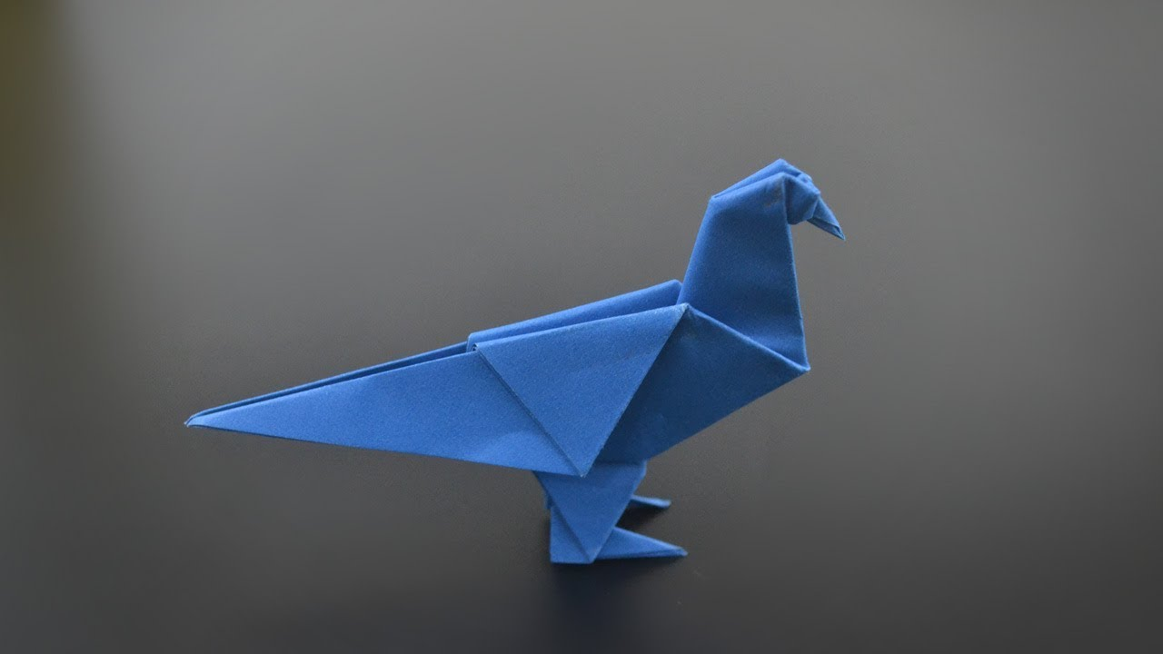 origami pigeon instruction in english br youtube