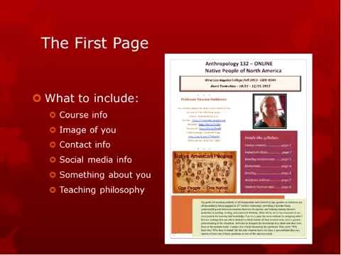 Creating an Online Interactive Syllabus (OTC14)